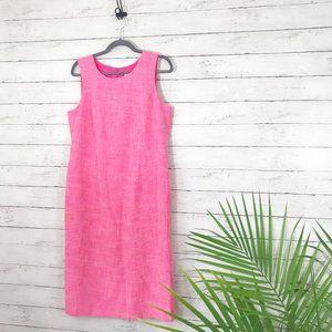 Koret - Pink Midi Length Sheath Dress - Size 10